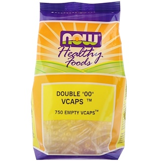 "Now Foods, Healthy Foods, Double ""00"" Vcaps, 750 Empty Vcaps"