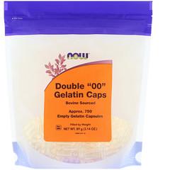 """Now Foods, Double """"00"""" Gelatin Caps, 750 Empty Capsules"""