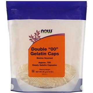 "Now Foods, Double ""00"" Gelatin Caps, Approx. 750 Empty Gelatin Capsules"