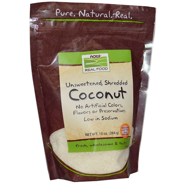 Now Foods, Real Food, Coconut, 10 oz (284 g) (Discontinued Item)