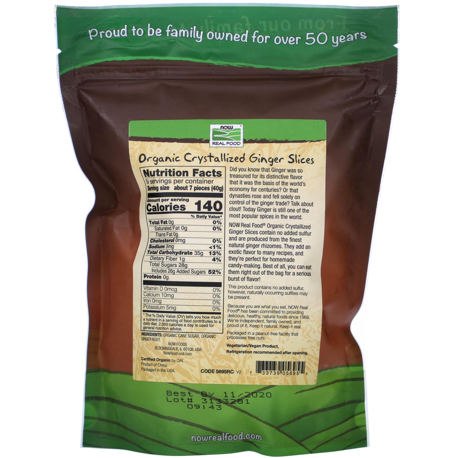 Organic Crystallized Ginger Slices