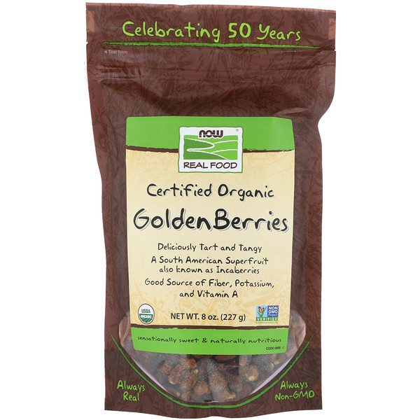Real Food, Certified Organic Golden Berries, 8 oz (227 g)