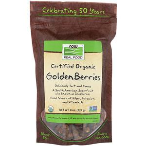 Now Foods, Real Food, Certified Organic Golden Berries, 8 oz (227 g) отзывы