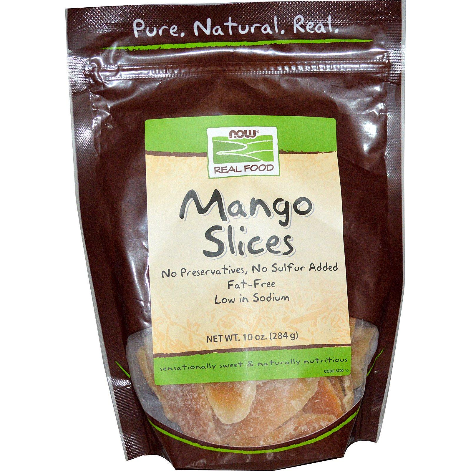 Now Foods, Кусочки манго, 10 унций (284 г)