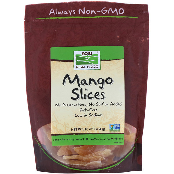 Now Foods, Real Food, Mango Slices, 10 oz (284 g)