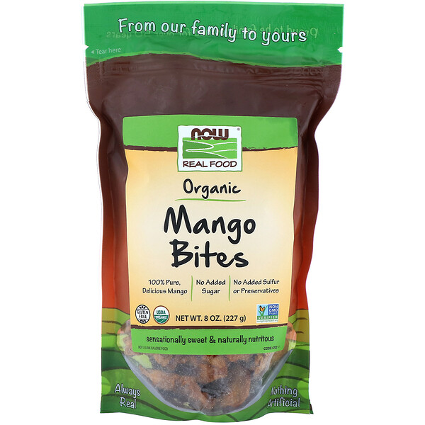 Now Foods, Real Foods, Organic Mango Bites, 8 oz (227 g) (Discontinued Item)