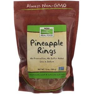 Now Foods, Real Food, Pineapple Rings, 12 oz (340 g) отзывы