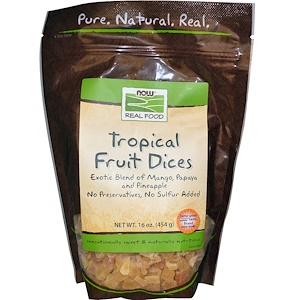 Now Foods, Real Food, Tropical Fruit Dices, 16 oz (454 g) отзывы