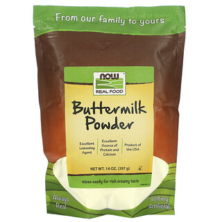 Now Foods, リアルフード、バターミルクパウダー、397g(14オンス)