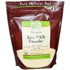 Now Foods, Real Food, poudre de lait de soja bio, 567 g (20 oz)
