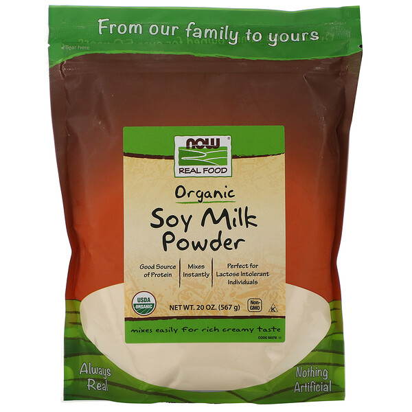Real Food, Leche de Soja en Polvo, 20 oz (567 g)