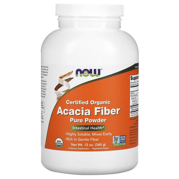 Certified Organic, Acacia Fiber, Powder, 12 oz (340 g)