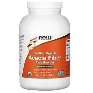 Now Foods, Certified Organic, Acacia Fiber, Powder, 12 oz (340 g) отзывы