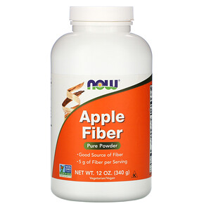 Now Foods, Apple Fiber, Pure Powder, 12 oz (340 g) отзывы
