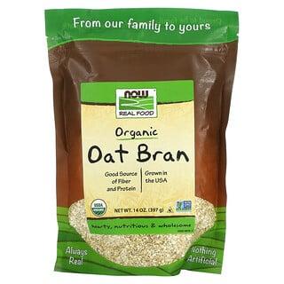 Now Foods, Real Food, Organic Oat Bran, 14 oz (397 g)