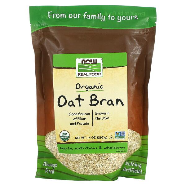 Real Food, Organic Oat Bran, 14 oz (397 g)