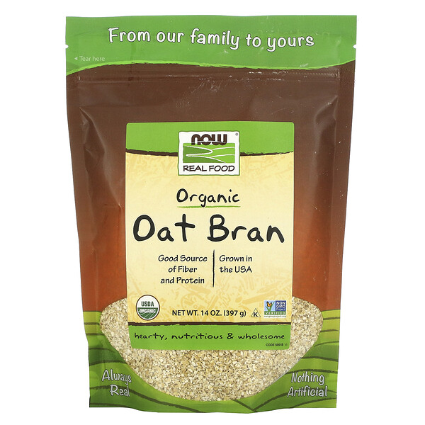 Real Food, Organic Oat Bran, 14 oz (397 g)