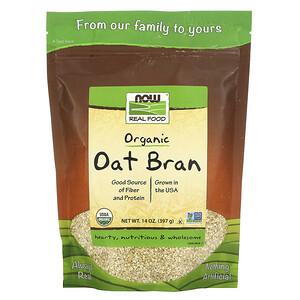 Now Foods, Real Food, Organic Oat Bran, 14 oz (397 g) отзывы покупателей
