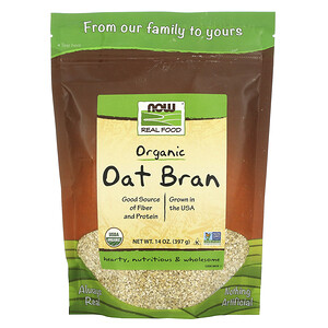 Now Foods, Real Food, Organic Oat Bran, 14 oz (397 g) отзывы