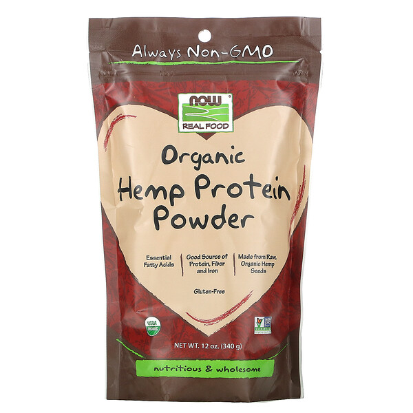 Real Food, Organic Hemp Protein Powder, 12 oz (340 g)