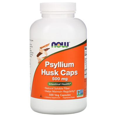 Фото - Psyllium Husk Caps, 500 mg, 500 Veg Capsules black walnut 400 mg 90 veg caps