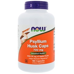 Now Foods, Psyllium Husk Caps, 700 mg, 180 Capsules