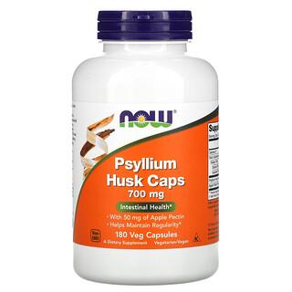 Now Foods, Psyllium Husk Caps, 700mg, 180vegetarische Kapseln