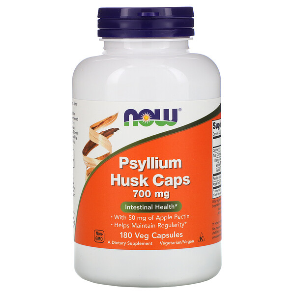 Now Foods, Psyllium Husk Caps, 700 mg, 180 Veg Capsules