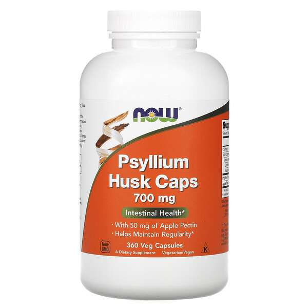 Now Foods, Psyllium Husk Caps, 700 mg , 360 Veg Capsules