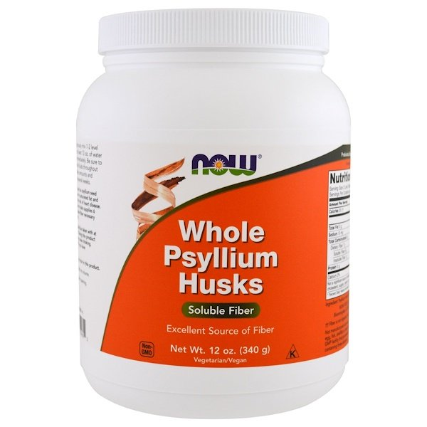 Whole Psyllium Husks, 12 oz (340 g)