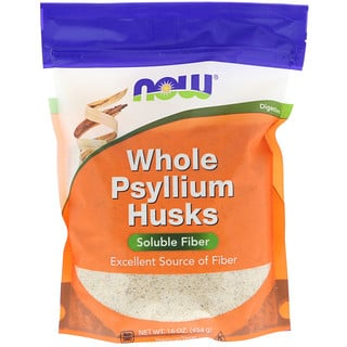 Now Foods, 훌 실리엄 허스크(Whole Psyllium Husks), 16 oz (454 g)
