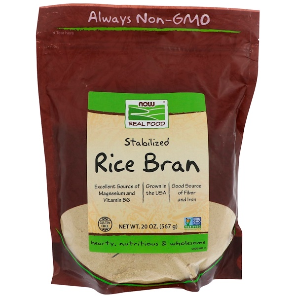 Real Food, Stabilized Rice Bran, 20 oz (567 g)