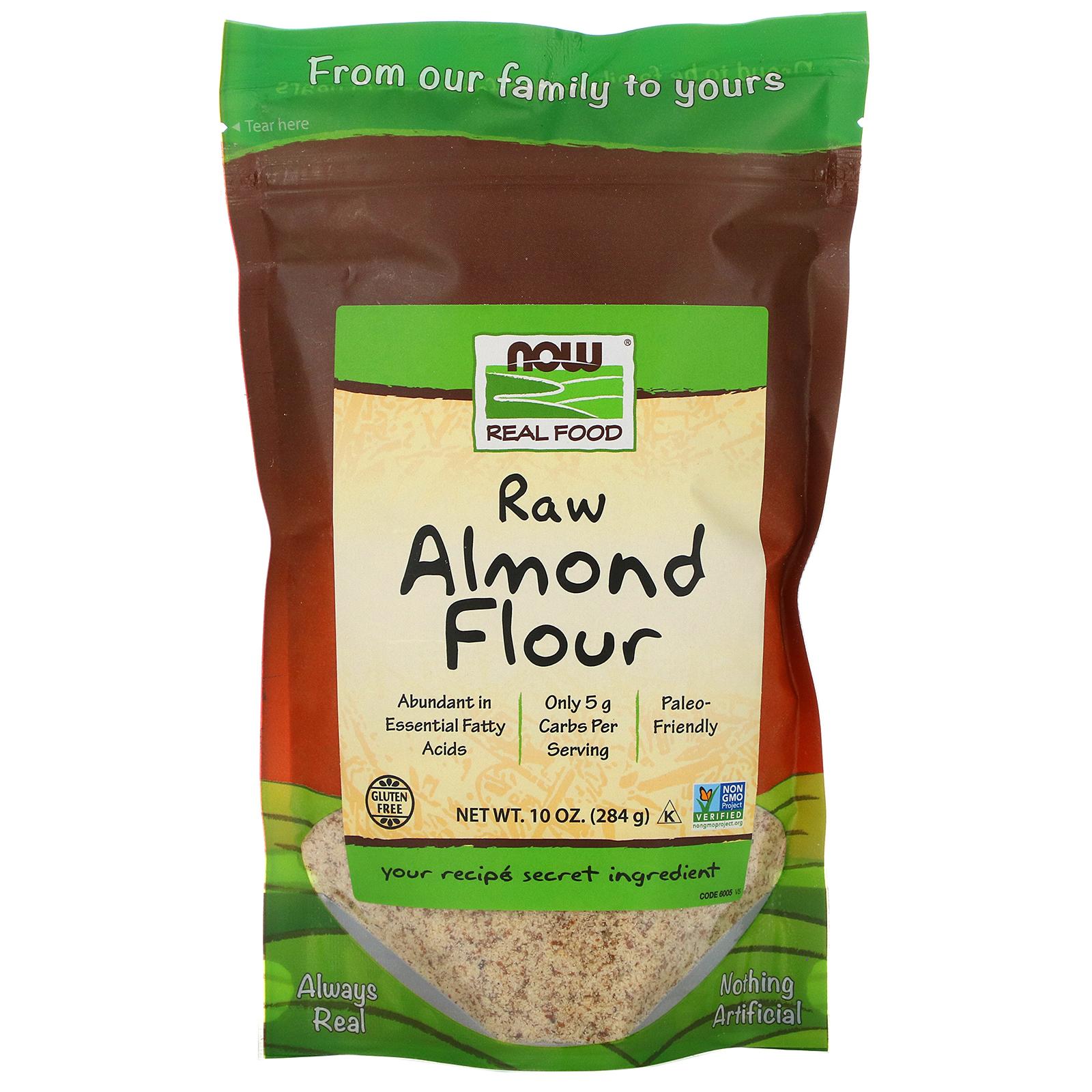 Now Foods Real Food دقيق لوز خام 10 أونصة 284 جم Iherb