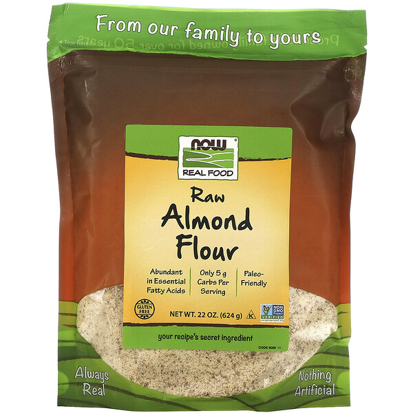 Now Foods, Real Food, Raw Almond Flour, 22 oz (624 g)
