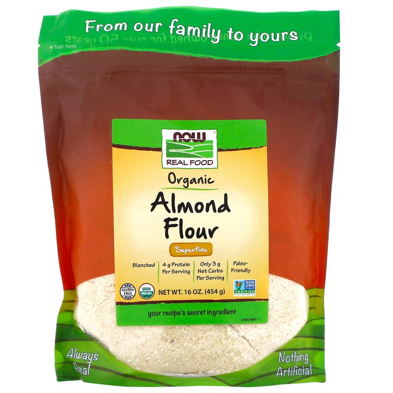 Now Foods, Real Food,有機杏仁粉,超細,16 盎司(454 克)
