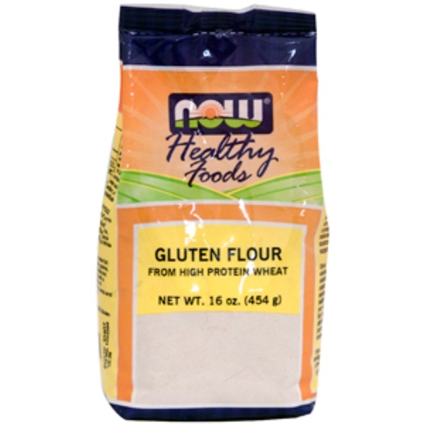 Now Foods, Healthy Foods, Gluten Flour, 16 oz (454 g) (Discontinued Item)
