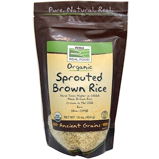Now Foods, Real Food, Organic, Sprouted Brown Rice, 16 oz (454 g)