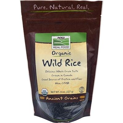 Купить Now Foods Органический дикий рис, 227 г (8 унций)