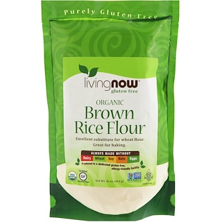 Now Foods, Organic Brown Rice Flour, 16 oz (454 g)