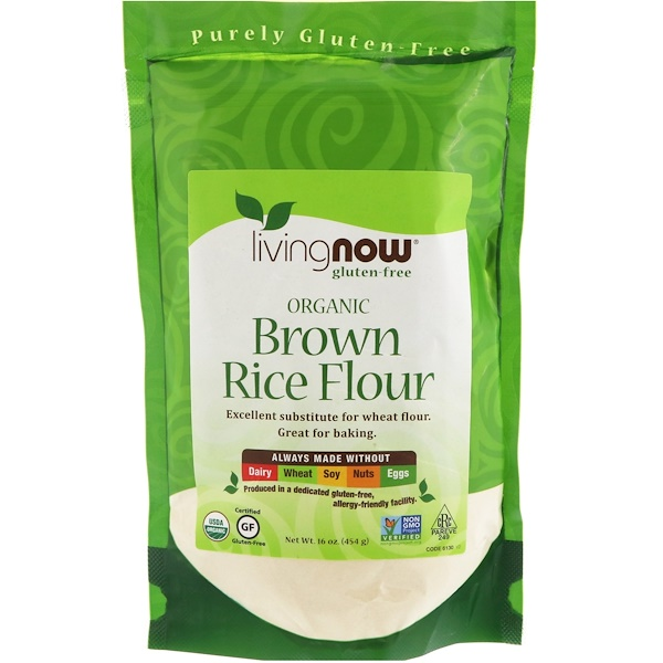 Now Foods, Organic Brown Rice Flour, 16 oz (454 g) (Discontinued Item)