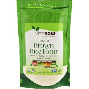Now Foods, Organic Brown Rice Flour, 16 oz (454 g) отзывы
