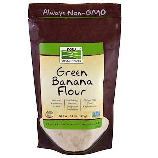 Now Foods, Harina de plátano verde, 14 oz (397 g)