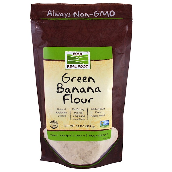 Now Foods, Green Banana Flour, 14 oz (397 g) (Discontinued Item)