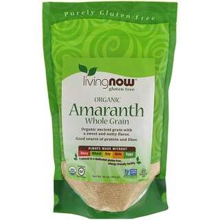 Now Foods, Organic Amaranth, Whole Grain, 16 oz (454 g)