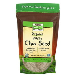 Now Foods, Real Food, Organic White Chia Seed, 1 lb (454 g) отзывы покупателей