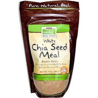 Now Foods, Real Food, White Chia Seed Meal, 10 oz (284 g)