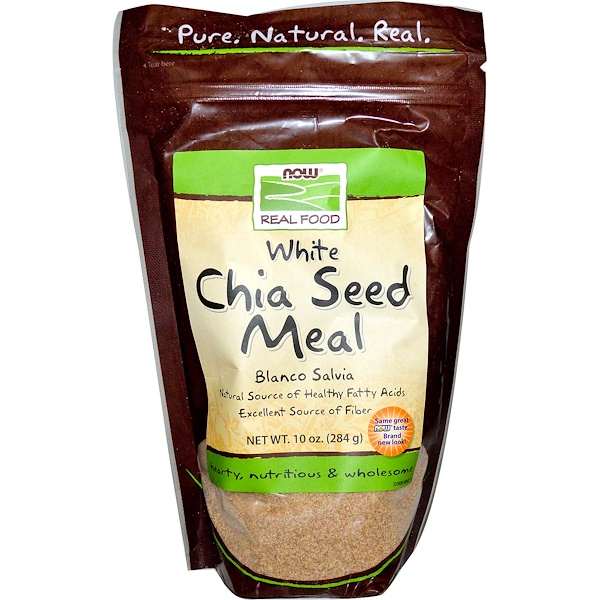 Now Foods, Real Food, White Chia Seed Meal, 10 oz (284 g) (Discontinued Item)
