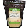 Now Foods, Real Food, Certified Organic, Golden Flax Seed Meal, 22 oz (624 g)