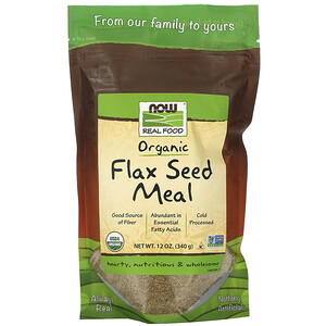 Now Foods, Real Food, Organic Flax Seed Meal, 12 oz (340 g) отзывы