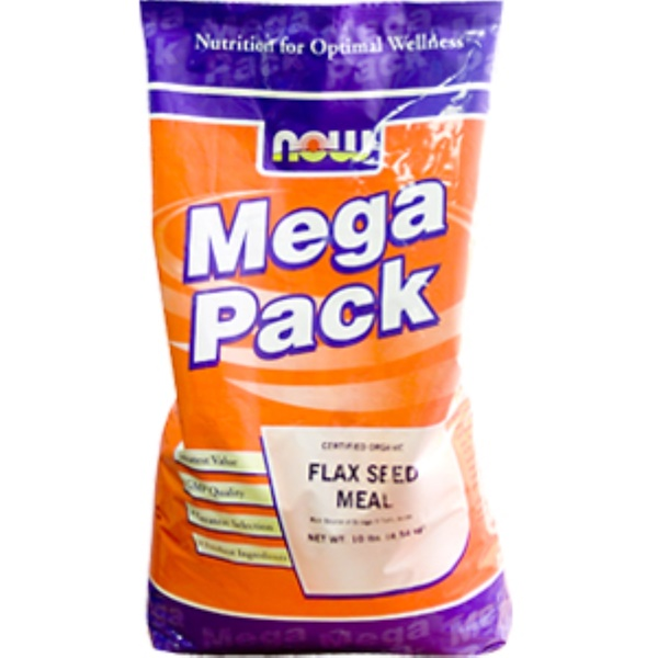 Now Foods, Flax Seed Meal, Certified Organic, 10 lbs. (4.54 kg) (Discontinued Item)